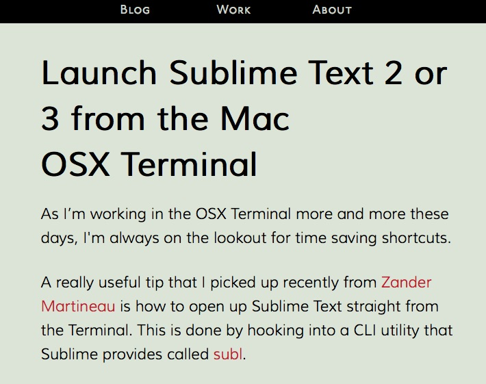 launch sublime text from terminal iterm